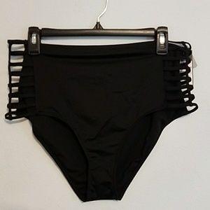 NWT Mossimo XL strappy high leg high waist bikini